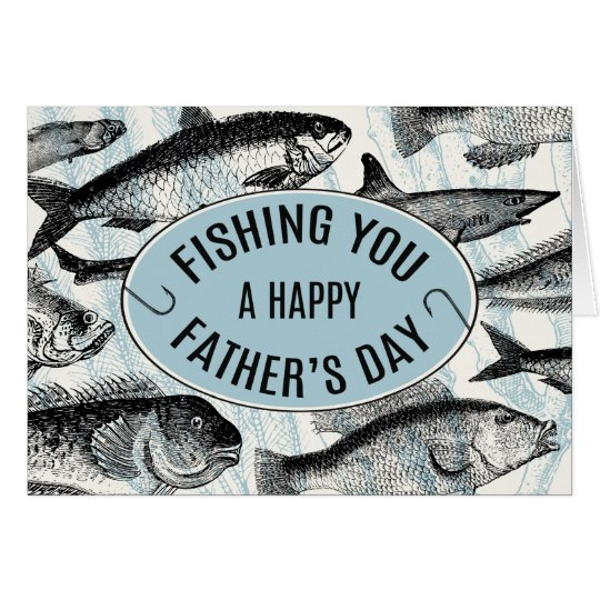 Fishing You A Happy Father's Day Card