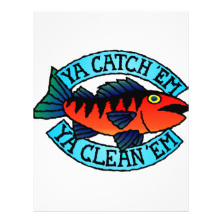 Fishing You Catch Them You Clean Them 21.5 Cm X 28 Cm Flyer