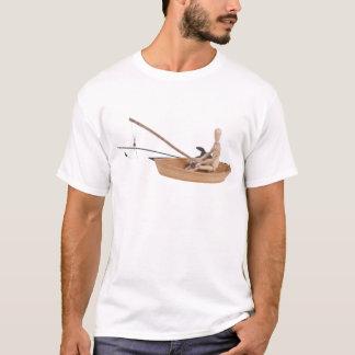 FishingWoodenBoatRodReel050314.png T-Shirt