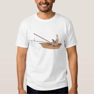 FishingWoodenBoatRodReel050314.png T Shirts