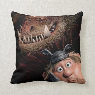 Fishlegs & Meatlug Throw Pillow