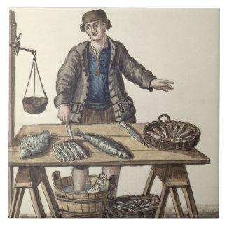 Fishmonger, Venetian (manuscript) Tile