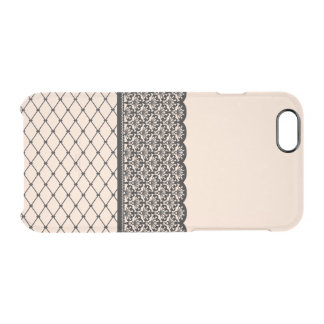 fishnet thigh-high with scalloped garter pattern iPhone 6 plus case
