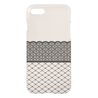 fishnet thigh-high with scalloped garter pattern iPhone 7 case