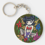 """""""Fishnets and Flowers"""" Keychain"""