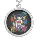 Fishnets and Flowers NECKLACE gothic fairy