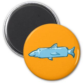 Fishstick Fish 6 Cm Round Magnet