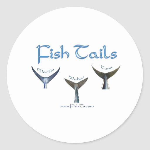 FishTails Collection by FishTs.com Round Stickers