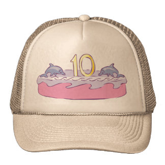Fishy 10th Birthday Gifts Cap