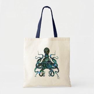 Fishy Blue Octopus Tote Bag