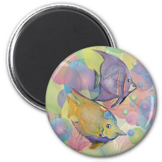 FISHY BUBBLES by SHARON SHARPE Magnet