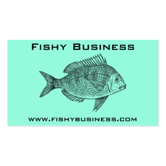 Fishy business corporate trend pack of standard business cards