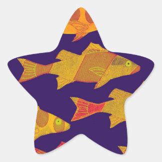 FISHY FISH 3 STAR STICKER