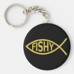 Fishy Fish Basic Round Button Key Ring
