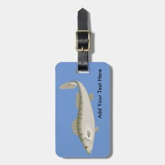 Fishy Fish Fishing Fisher Trout Luggage Tag