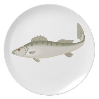 Fishy Fish Fishing Fisher Trout Plate