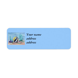 Fishy Fishy Return Address Label