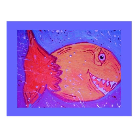 Fishy fishy postcard