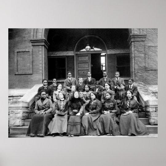 Fisk University Students: 1899 Poster