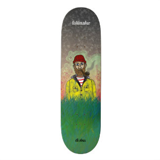 """fiskimaður"" Skateboard by Eli Obus"