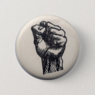 Fist 6 Cm Round Badge