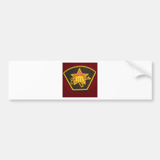 fist and red star bumper sticker
