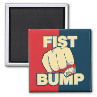 Fist Bump Square Magnet