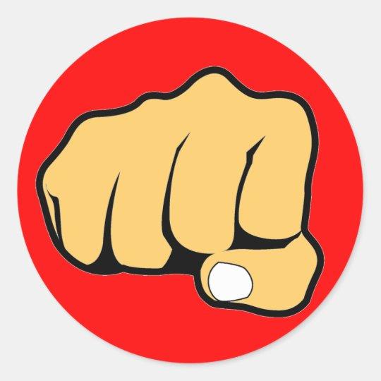 Fist Classic Round Sticker