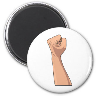 Fist Clenched Hand Sign Gesture 6 Cm Round Magnet