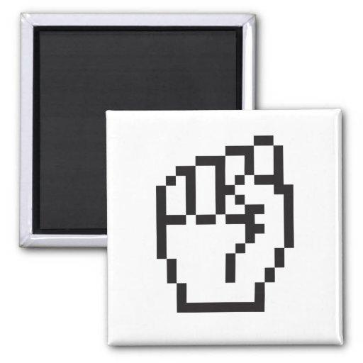 Fist Cursor Fridge Magnets