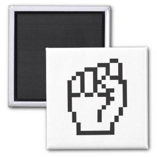 Fist Cursor Square Magnet