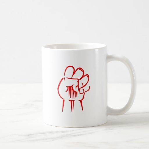 Fist fist coffee mugs
