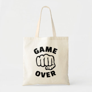 Fist game over budget tote bag