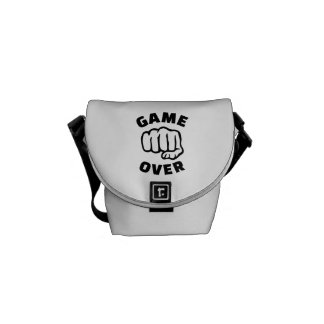 Fist game over courier bag