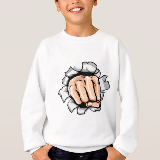 Fist Hand Punching Hole Sweatshirt