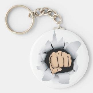 fist illustration keychain