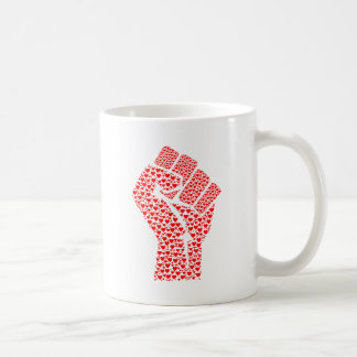 Fist of Love - Clenched Fist made of red hearts Coffee Mug