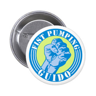 Fist Pumping Guido 6 Cm Round Badge