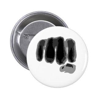Fist respect 6 cm round badge