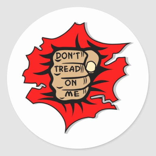 Fist Tear Tattoo Out Don't Tread On Me Stickers