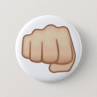 Fisted Hand Sign Emoji 6 Cm Round Badge