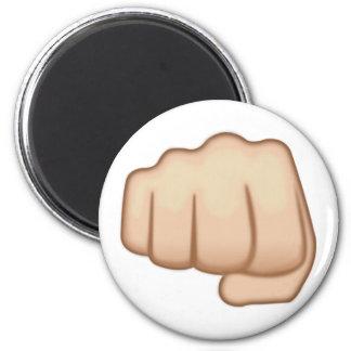 Fisted Hand Sign Emoji 6 Cm Round Magnet