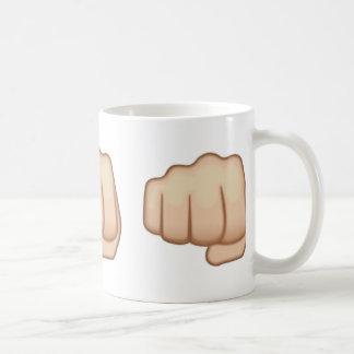 Fisted Hand Sign Emoji Basic White Mug