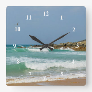 Fistral Beach Newquay Cornwall England Square Wall Clock