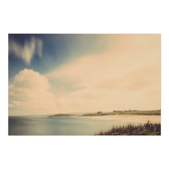 Fistral Beach, Newquay, Cornwall Poster Print