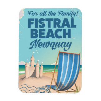 Fistral Beach Newquay Vintage travel poster Magnet