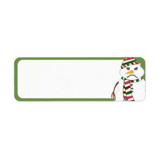Fisty the Snowman Return Address Labels