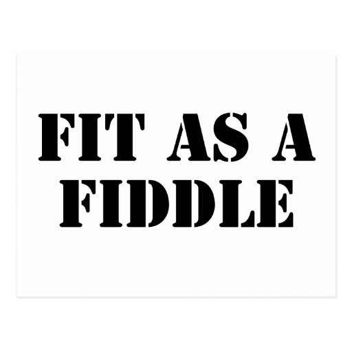 Fit As A Fiddle Post Cards