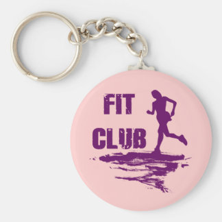 FIT CLUB BASIC ROUND BUTTON KEY RING