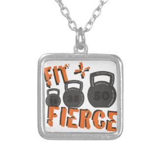 Fit & Fierce Square Pendant Necklace